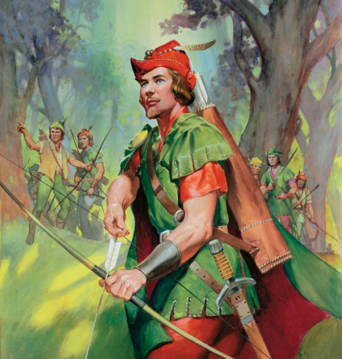 robin hood illustration