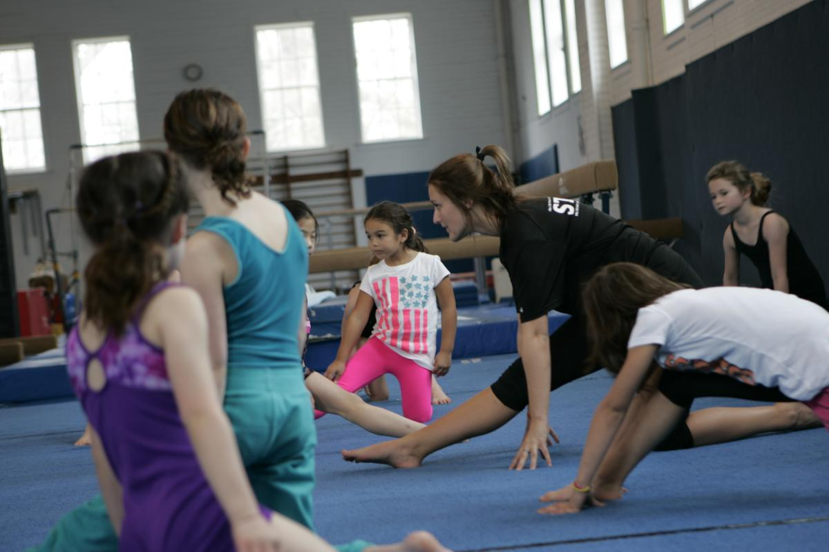 gymnasts stretching 2